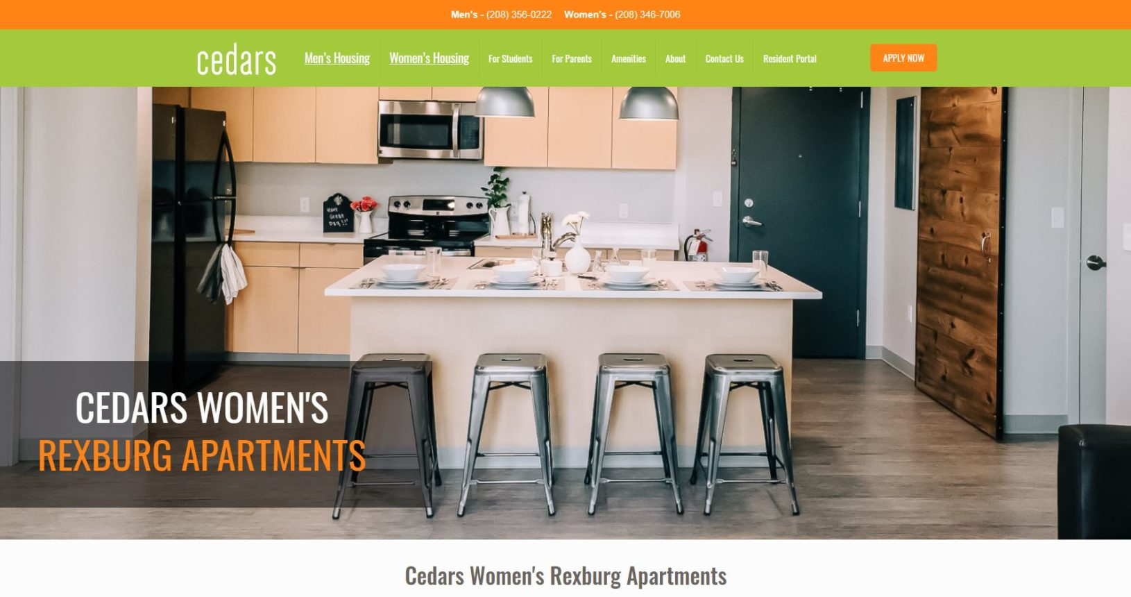 New Womens Landing Page